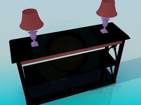 modelo 3D Soporte de la - escuchar