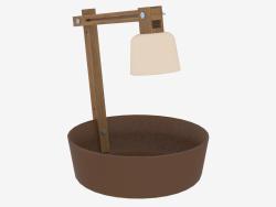 Lampada da tavolo con capacità per piccoli oggetti Lampada da frutta