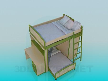 descarga gratuita de 3D modelado modelo Cama de cucheta