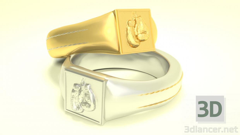 3d Boxer ring model buy - render