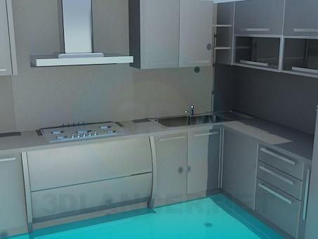 3d модель Кухня с телевизором – превью