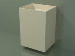 Wall-mounted washbasin (03UN36302, Bone C39, L 60, P 50, H 85 cm)