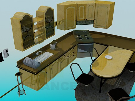 3d model Kitchen set - preview