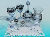 Un conjunto de vidrio de corte