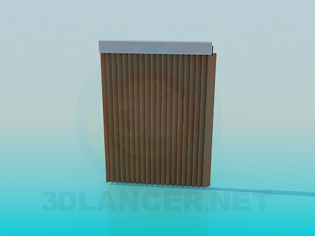 3d modeling Blinds vertical model free download
