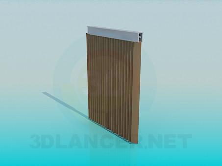 modelo 3D Persianas verticales - escuchar