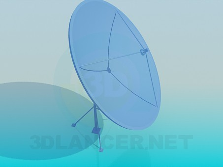 3d modeling Satellite antenna model free download