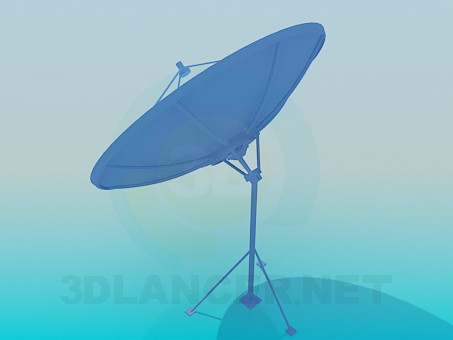 3d model Satellite antenna - preview