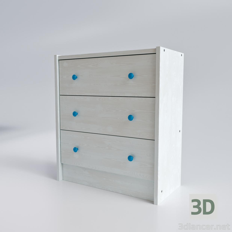 3 डी मॉडल ड्रेसर आइकिया रैस्ट - पूर्वावलोकन