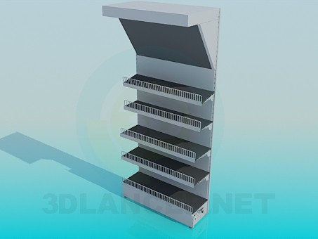 3d model Showcase with racks for products - preview
