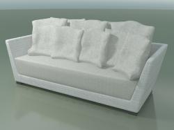 White-gray woven polyethylene sofa InOut (503)