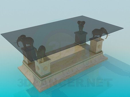 3d modeling Table interior model free download