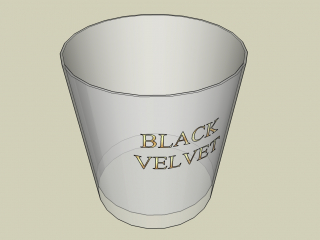 Glass of whiskey Black Velvet