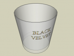 Glass of whiskey Black Velvet