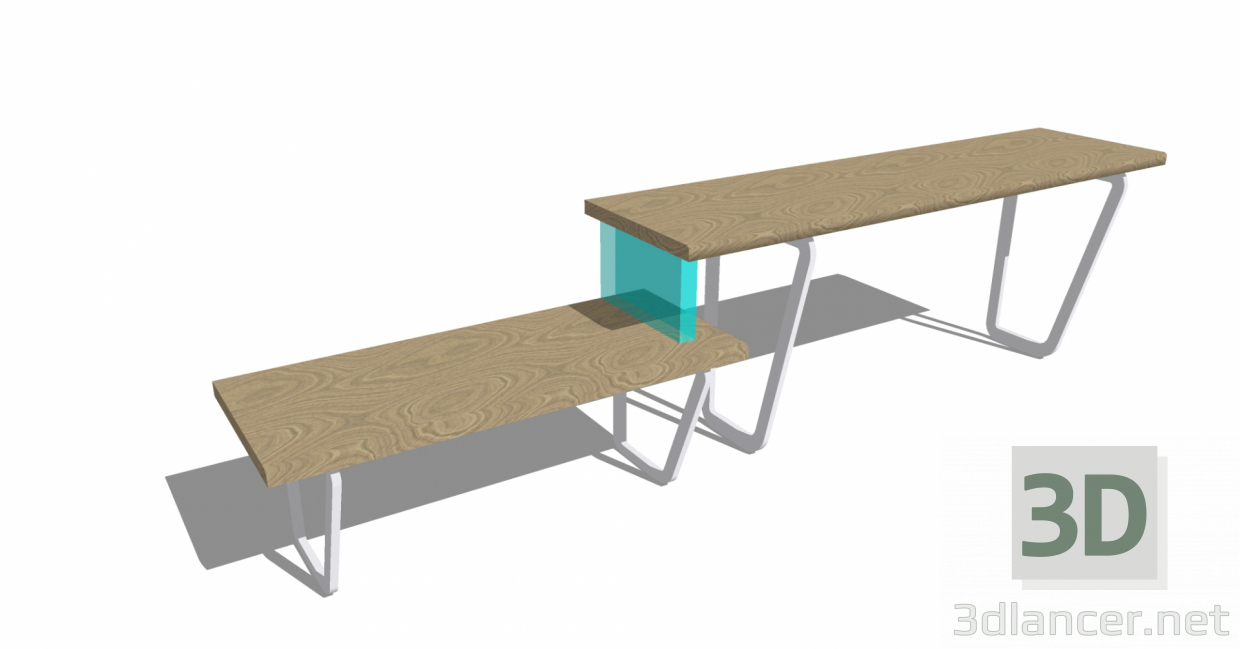 3d model Combined table - preview