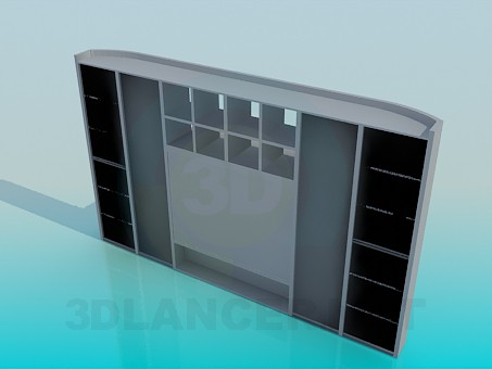 3d model Symmetrical wall-cupboard - preview