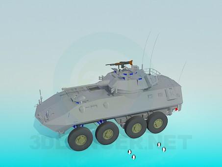 3d модель Танк на колесах – превью