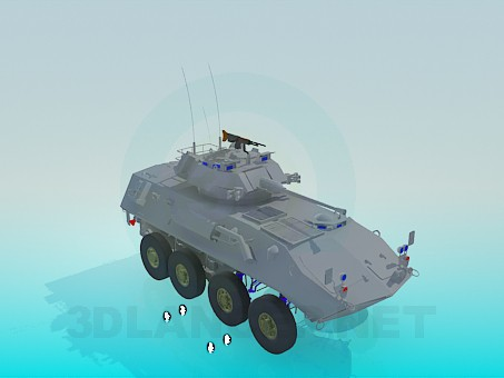 3d model Tank with a wheels - preview