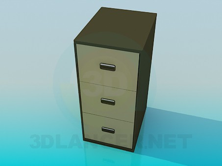 3d моделювання Тумба з ящиками модель завантажити безкоштовно