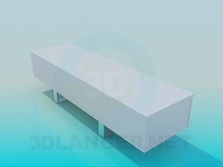 modelo 3D Banco de - escuchar
