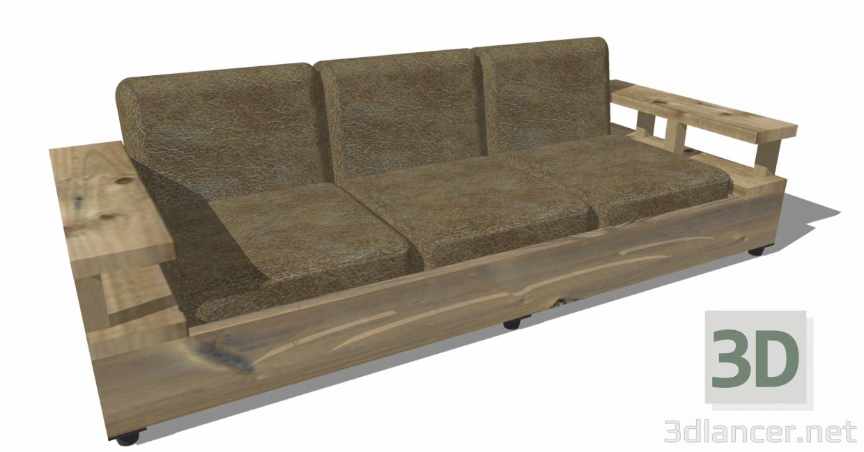 3d Sofa 001 model buy - render