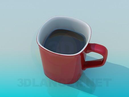 3d model Cap of cofe - preview