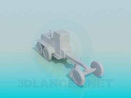 modelo 3D Tractor - escuchar