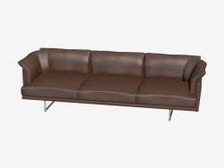 sofá de cuero triple
