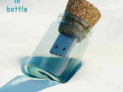 Flash Drive - Message in bottle