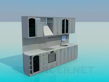 modelo 3D Unidad de pared en la cocina - escuchar