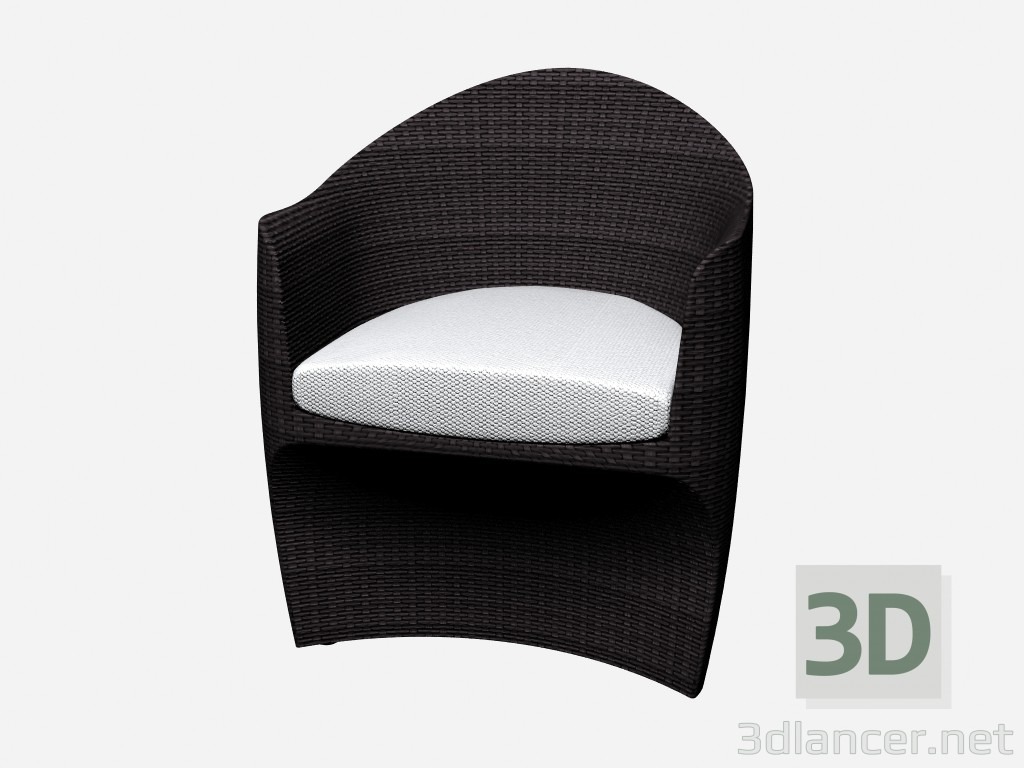 3d model Dining chair Dinning Armchair 46100 46150 - preview
