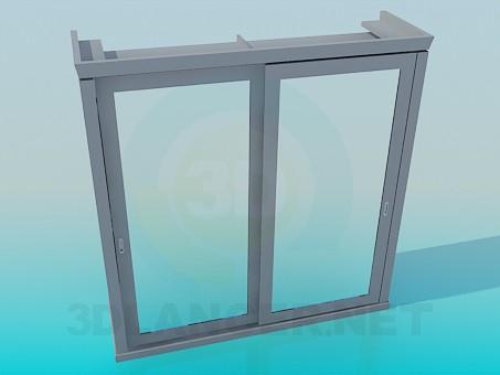 modelo 3D Armario con puertas correderas con espejos - escuchar