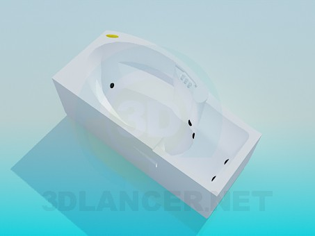 modelo 3D Baño-Jacuzzi - escuchar