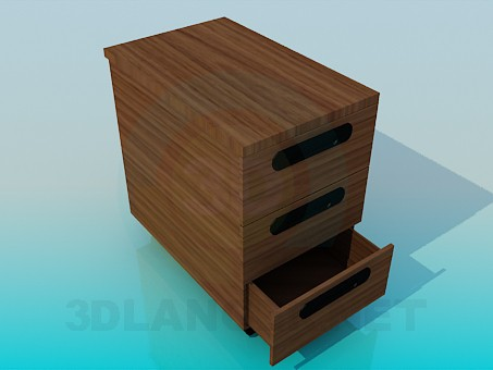 3d model Cabinet with drawers - preview