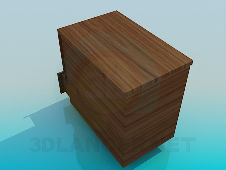 modelo 3D Gabinete con cajones - escuchar