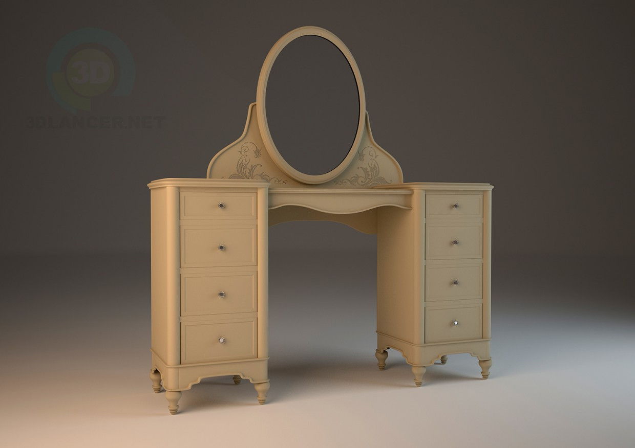 3d model Hooker (United States) dressing table - preview
