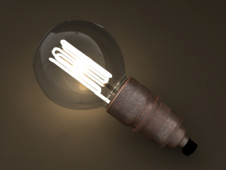 Eco-filament Globe shaped bulb