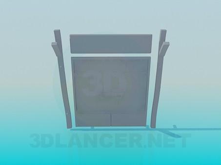 3d model Wooden gates - preview