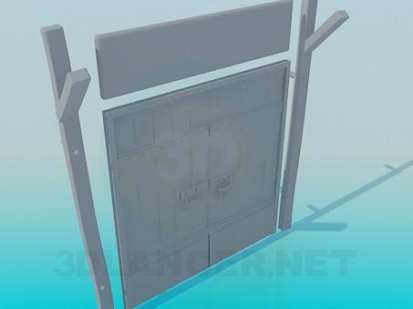 3d модель Ворота деревянные – превью
