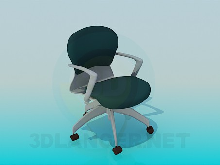 3d modeling Office chair with wheels model free download