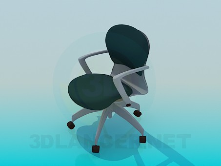 3d model Office chair with wheels - preview