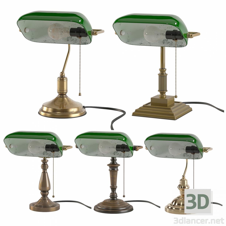 3d Bankers-Study-Light model buy - render