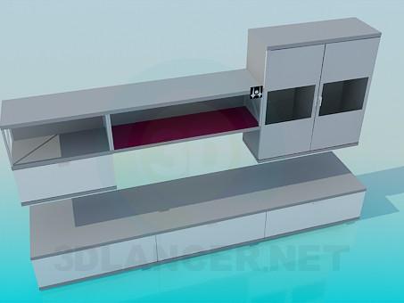 3d модель Меблі для вітальні кімнати – превью