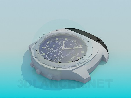 3d modeling Wristwatch without strap model free download