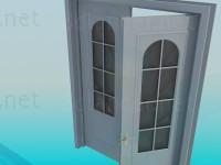 3d моделирование Дверь двухстворчатая модель скачать бесплатно