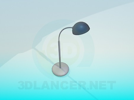 3d model Metallic table lamp - preview