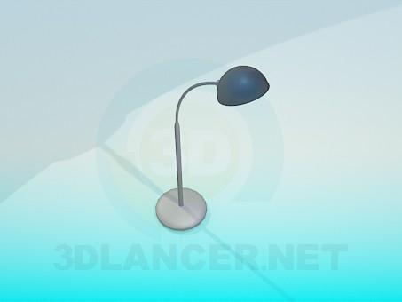 modelo 3D Lámpara de mesa metálico - escuchar