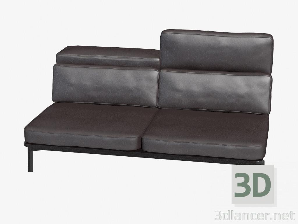 3d modella divani in pelle doppio dal produttore cassina for Mobilia divani