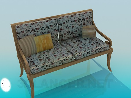 3d model Bench seat - preview
