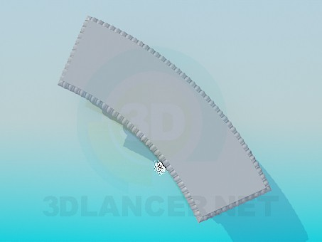 modelo 3D Banco de piedra curvado - escuchar
